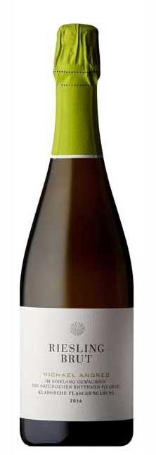 Weingut Michael Andres, Riesling Sekt Brut, ökozertifiziert, 2017