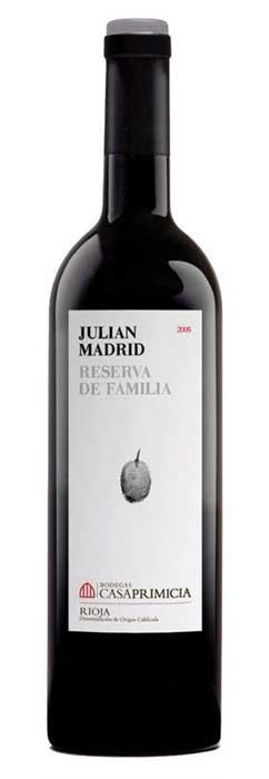 Bodegas Primicia, Rioja Reserva de la Familia Julian Madrid, 2014